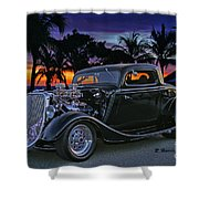33 Ford On The Mexico Beach Shower Curtain