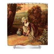Walton Henry A Country Maid Henry Walton Shower Curtain