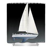 33b Gallant Sailing Shower Curtain