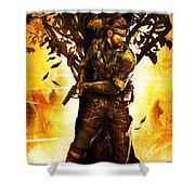 Metal Gear Shower Curtain
