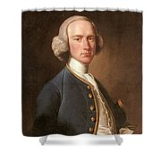 Portrait Of George Hill Sergeant At Law Henry Pickering Shower Curtain