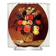 bs-flo- James Henry Wright- Flower Still Life James Henry Wright Shower Curtain