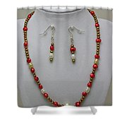 3539 Pearl Necklace And Earring Set Shower Curtain
