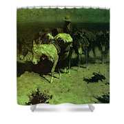 35427 Frederick Remington Shower Curtain