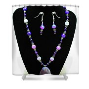 3547 Purple Veined Agate Set Shower Curtain