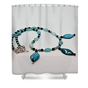 3564 Shell And Semi Precious Stone Necklace Shower Curtain