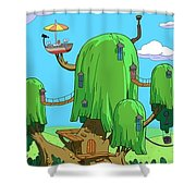 35666 Adventure Time Shower Curtain