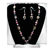 3571 Rhodonite Set Shower Curtain