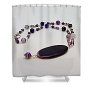 3573 Banded Agate Necklace  Shower Curtain