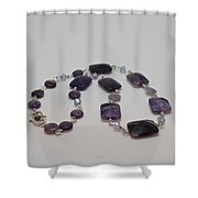 3575 Amethyst Necklace Shower Curtain