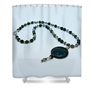 3577 Kambaba And Green Lace Jasper Necklace Shower Curtain