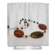 3586 Picasso Jasper Necklace Shower Curtain