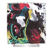 Abstract Expressionsim Art Shower Curtain