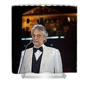 Andrea Bocelli In Concert Shower Curtain
