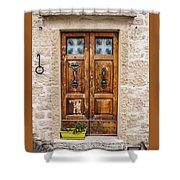 Italian Door  Shower Curtain