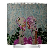 Kintu And Nambi  Folktale Shower Curtain