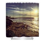 Sunset On La Jolla Beach, California, Usa  Shower Curtain