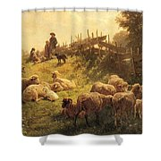 Weber Gottlieb Daniel Paul Near Obersdorf Bavaria Gottlieb Daniel Paul Weber Shower Curtain