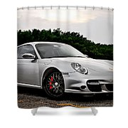 360 Forged Porsche 997tt 2 Shower Curtain