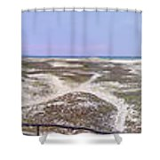 360 Panorama Of Sandy Neck Shower Curtain
