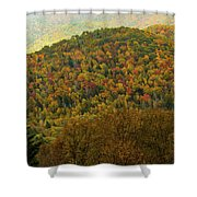 North Carolina Fall Colors Shower Curtain
