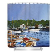 38 Boats Shower Curtain