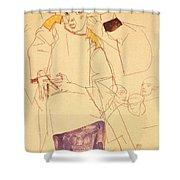 38027 Egon Schiele Shower Curtain