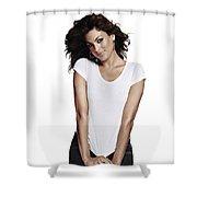 Eva Mendes Shower Curtain