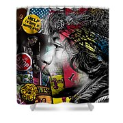 Jimi Hendrix Collection Shower Curtain