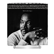 39- Martin Luther King Jr. Shower Curtain by Joseph Keane