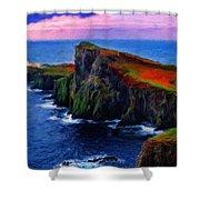 Original Landscape Paintings Shower Curtain