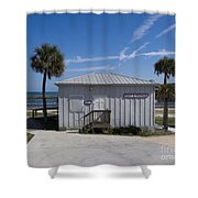 Sebastian Inlet State Park In Florida Shower Curtain