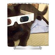 3d Cat Shower Curtain