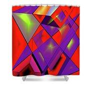 3d-cubes Shower Curtain