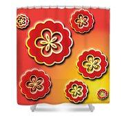 3d Digital Flowers Shower Curtain