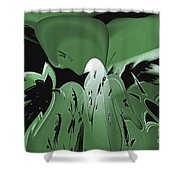 3d Green Abstract Shower Curtain