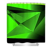 3d-greenpyramids Shower Curtain