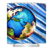 3d Render Of Planet Earth 10 Shower Curtain