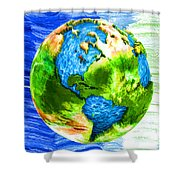 3d Render Of Planet Earth 11 Shower Curtain