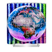 3d Render Of Planet Earth 12 Shower Curtain
