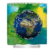 3d Render Of Planet Earth 14 Shower Curtain