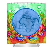 3d Render Of Planet Earth 17 Shower Curtain