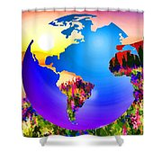 3d Render Of Planet Earth 18 Shower Curtain