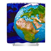 3d Render Of Planet Earth 6 Shower Curtain