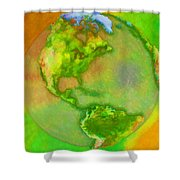 3d Render Of Planet Earth Shower Curtain