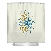 3d Spiral Art Shower Curtain
