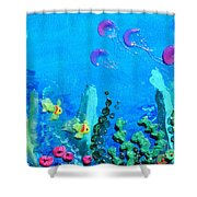 3d Under The Sea Shower Curtain by Ruth Collis