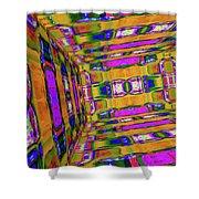 3d-unlimited Spectrum  Shower Curtain