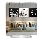3d Wall Decor Painting Y1921a Shower Curtain
