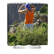 3d10302-dc Ed Cooper On The Hunt Shower Curtain
